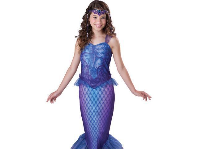 Tween Little Mermaid Dress Teen Girls Halloween Costume