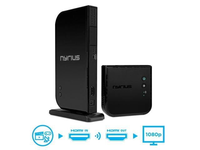 Nyrius ARIES Home HDMI Digital Wireless Transmitter & Receiver for HD 1080p Video Streaming, Cable box, Satellite, Bluray, DVD, PS3, PS4, Laptops.