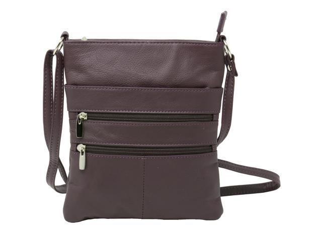 Genuine Leather Organizer Purse Mini Handbag Travel Bag Zippered Shoulder Purse (817137090770 Luggage & Bags) photo