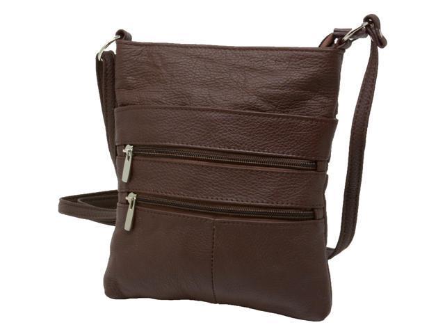 Genuine Leather Organizer Purse Mini Handbag Travel Bag Zippered Shoulder Purse (817137090749 Luggage & Bags) photo