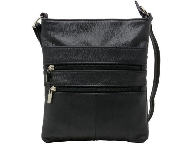 Genuine Leather Organizer Purse Mini Handbag Travel Bag Zippered Shoulder Purse (817137090732 Luggage & Bags) photo