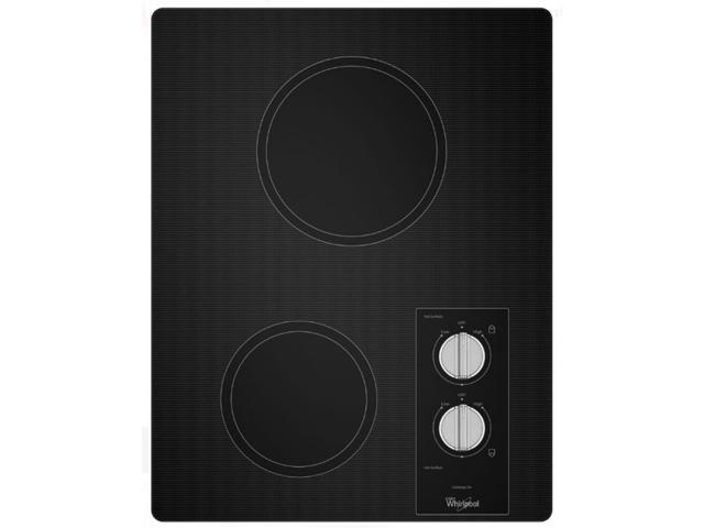 Whirlpool W5CE1522FB 17 inch Black 2 Burner Smooth Top Electric Cooktop photo