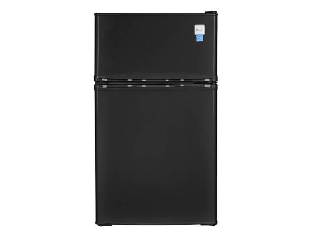 Avanti 3.1 Cu. Ft. Black Compact Refrigerator - Two Door Counter-high photo