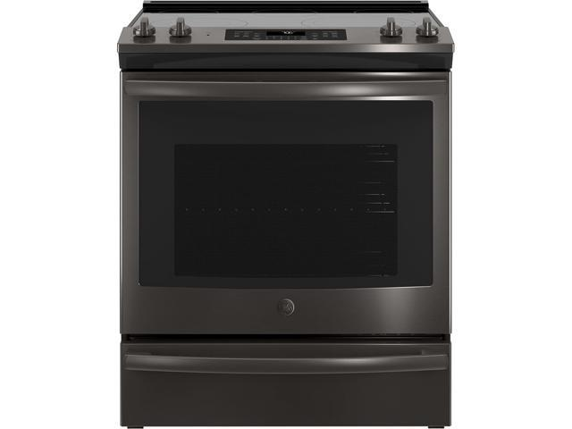 G.E. JS760BLTS 30 Slide-In Electric Convection Range - Black Stainless photo