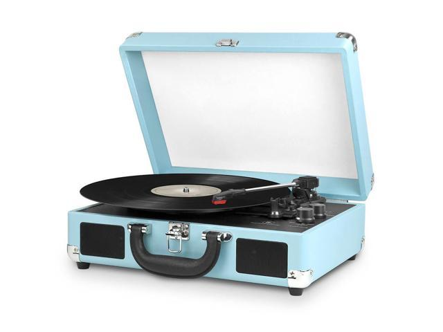 INNOVATIVE TECHNOLOGY INN-VSC-550BT-TRQ BLUETOOTH SUITCASE TURNTABLE IN TURQUOIS (816203013859 Electronics Video Video Accessories) photo