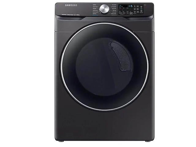 Samsung DVE45R6300V 7.5 Cu. Ft. Black Stainless Smart Electric Front Load Dryer with Steam Sanitize+ photo
