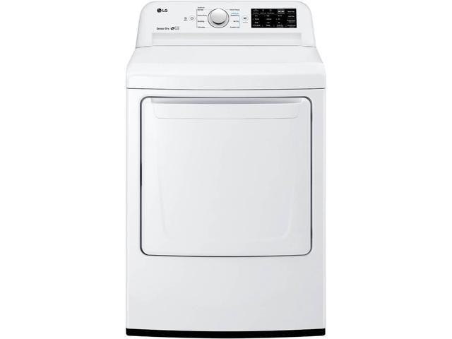 LG DLE7100W 7.3 Cu. Ft. White Electric Dryer with Sensor Dry photo