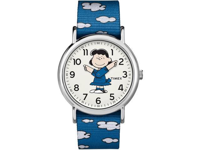 Men's Timex Weekender X Peanuts Blue Lucy Watch TW2R41300