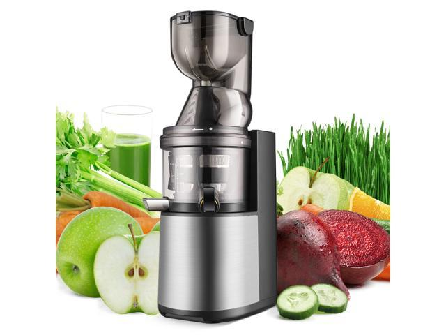 Slow Masticating Juicer - Cold Press Machine Juice Extractor Easy to Clean with Juice Recipe Wide Feed Chute for High Nutrient Fruit Vegetable photo