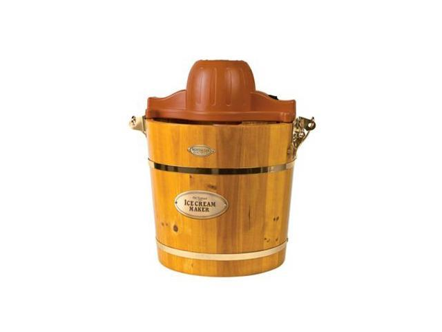 Nostalgia Electrics 4-Quart Wooden Bucket Electric Ice Cream Maker (Light Oak) photo