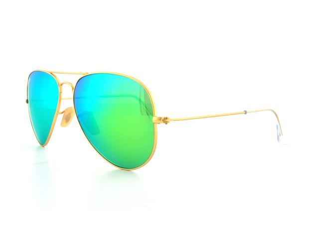 470c3192c8 RayBan RB3025 112 19 58mm Unisex Aviator Sunglasses with Green Flash Lens    Gold Frame