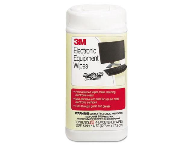 3M Electronic Equipment Cleaning Wipes 5 1/2 x 6 3/4 White 80/Canister CL610 photo