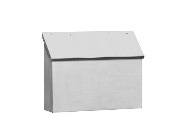 Salsbury 4510 Standard Horizontal Style Stainless Steel Mailbox photo