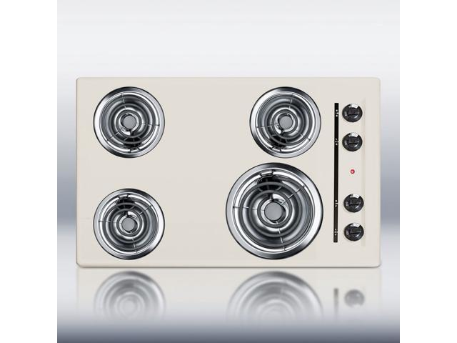 Summit SEL05: 30' wide 220V electric cooktop in bisque porcelain finish photo