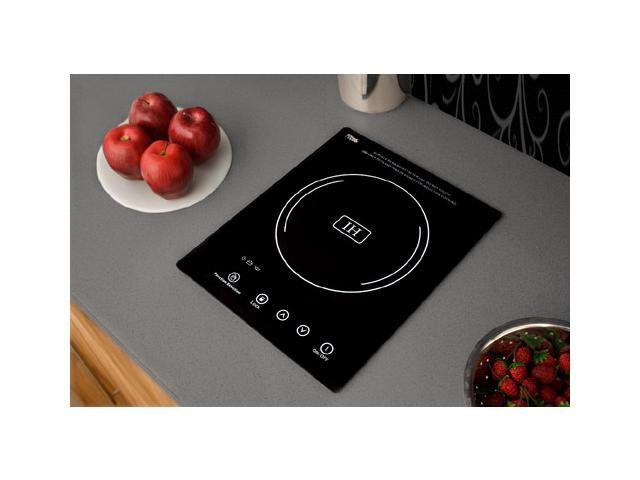 Summit SINC1110: Built-in induction cooktop with single zone, 1800 Watts, 120 Volts, and Black Ceran & tra photo