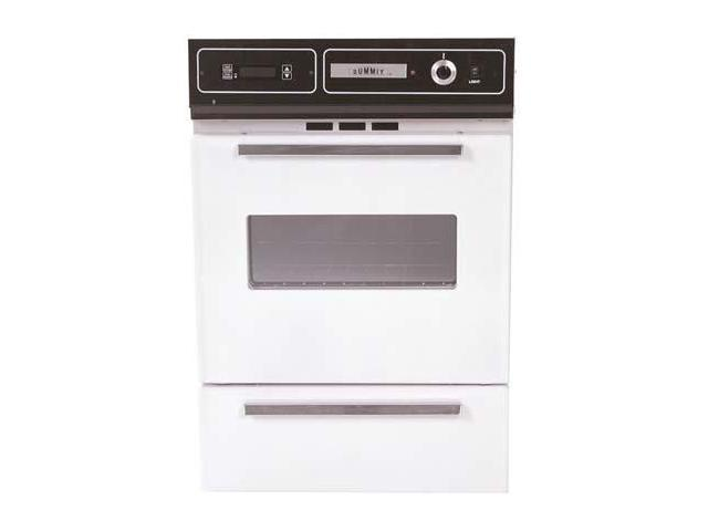 Summit STM7212KW: Bisque gas wall oven with electronic ignition, digital clock/timer, and oven window for photo