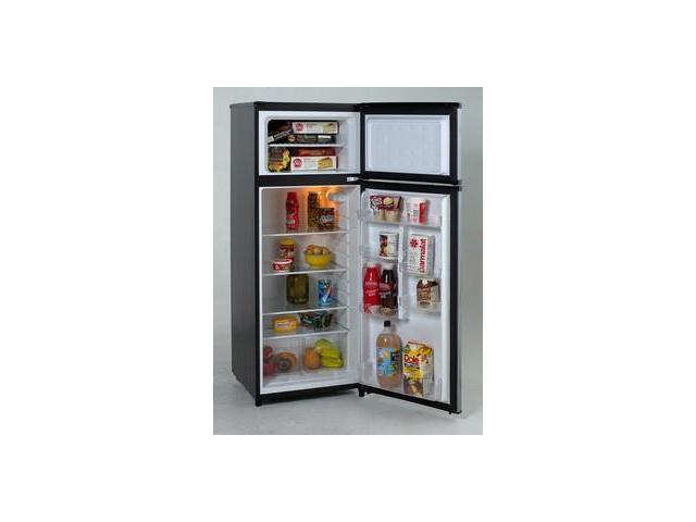 Avanti RA7316PST: Model RA7316PST - 7.4 CF Two Door Apartment Size Refrigerator - Black w/Platinum Finish photo
