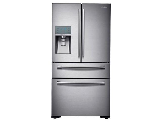 Samsung 24 Cu. Ft. Counter Depth 4-Door Refrigerator w/ FlexZone Drawer RF24FSEDBSR photo