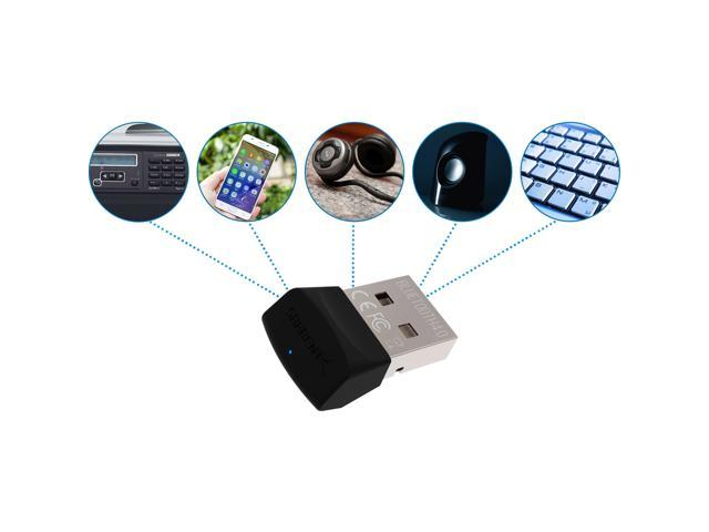 Sabrent USB Bluetooth 4.0 Micro Adapter for PC v4.0 Class 2 with Low Energy