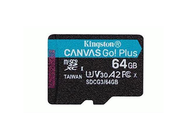 Kingston Canvas Go! Plus 64 GB Class 10/UHS-I (U3) microSDXC - 170 MB/s Read - 70 MB/s Write
