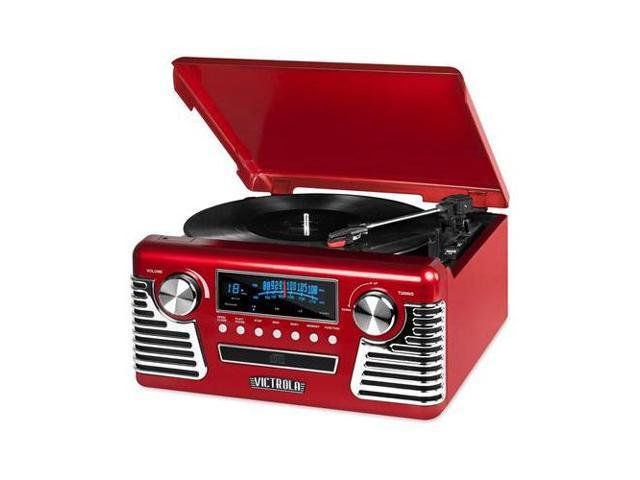 Innovative Technology INN#INNV50200RED Bluetooth Stereo Turntable with CD (Electronics Audio Audio Components) photo