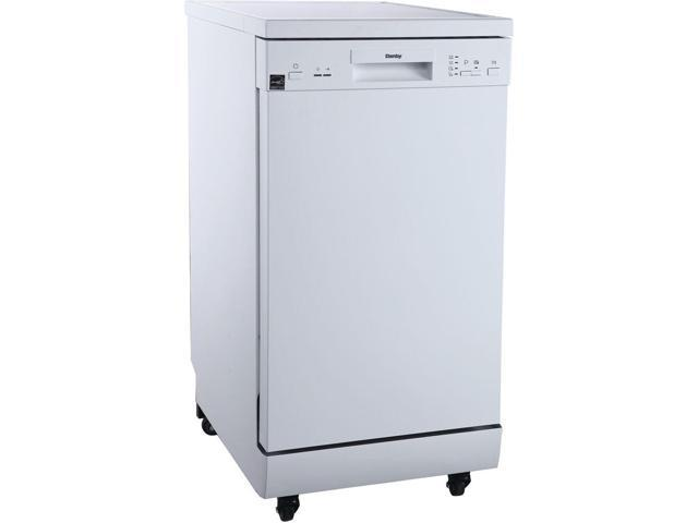 DANBY DDW1805EWP 18' Portable Dishwasher, 8 Place Settings, SS Interior, 4 Wash Programs photo