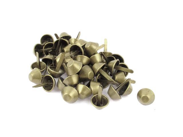 Unique Bargains 50 Pcs Bronze Tone Metal Retro Style 15mm Bucket Shaped Purse Shoes Rivets Studs (711331384782 Arts & Entertainment Crafts & Hobbies) photo