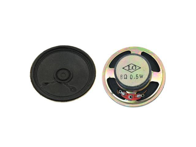 0.5W Watt 8 Ohm Audio Speaker Round Magnetic Loudspeaker 2 Pcs