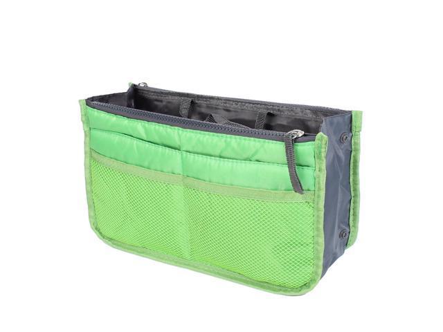 Zipper Women Cosmetic Bag Purse Portable Multi Pocket Organizer Storage Handbag Green (712457946571 Home & Garden Household Supplies) photo