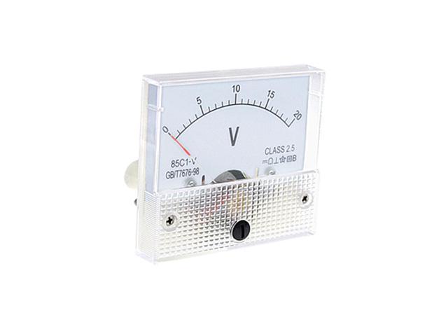 DC 0~20V 85C1-V Class 2.5 Voltmeter Analog Volt Panel Meter photo