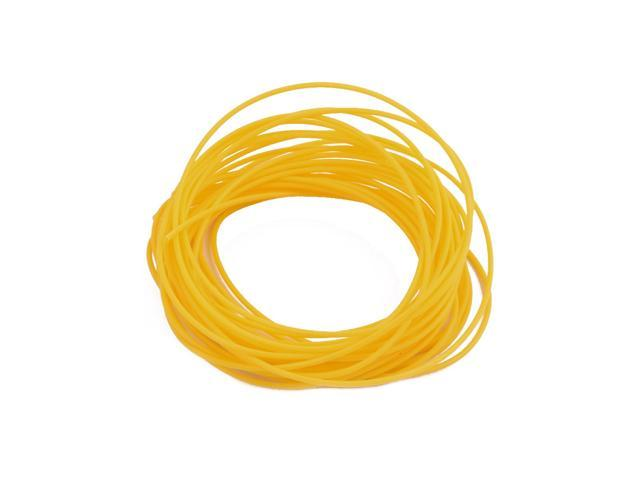 0.81mmx1.11mm PTFE Resistant High Temperature Yellow Tubing 5 Meters 16.4Ft