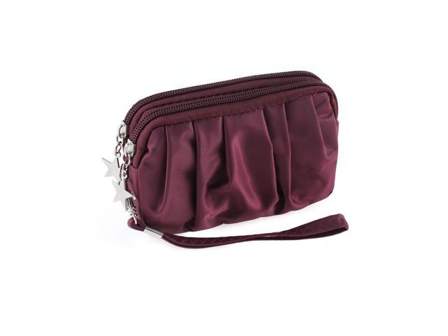Unique Bargains Lady Women Waterproof Zipper Purse Wallet Bag Card Money Holder Fuchsia (712662308522 Luggage & Bags) photo