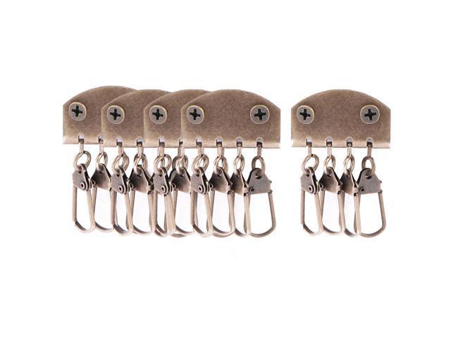 Bags Purses Handbags Hardware Iron Retro Four Clasps Key Row Bronze Tone 5pcs (604267009006 Luggage & Bags) photo