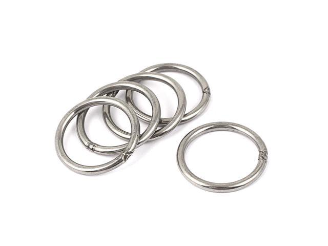 Unique Bargains 5 Pcs 30mm x 24mm 304 Stainless Steel Welded O Rings for Purses Bags (602451609773 Heavy Machinery) photo
