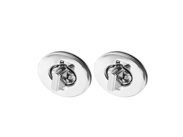 2 Sets Oval Purses Twist Lock 35mm X 28mm Clutches Closures for DIY Bag Making - Silver (041814212401 Hardware,hardware Hardware Accessories) photo