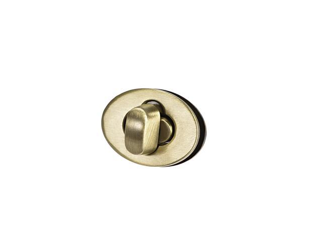 1 Set Oval Purses Twist Lock 23mm x 17mm Clutches Closures for DIY Bag Making - Brussed Brass (041814162904 Hardware,hardware Hardware Accessories) photo