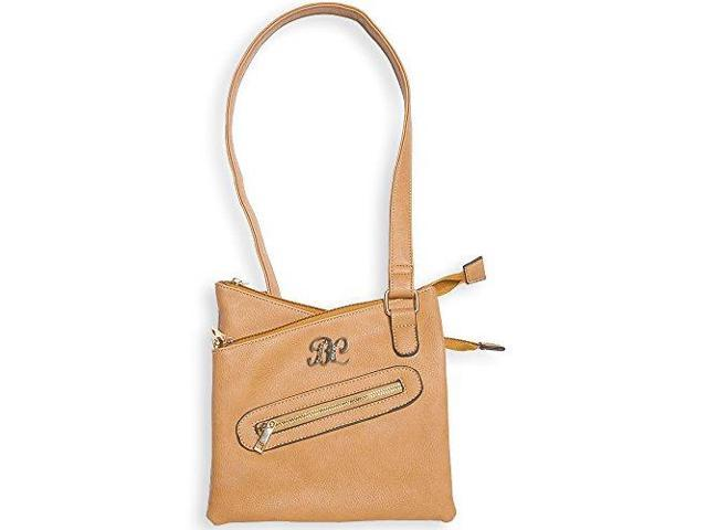 Bulldog Cases Cross Body Style Purse, Leather, Universal Fit Holster Included, Tan Finish BDP-032 (672352009408 Mature Weapons Gun Accessories) photo