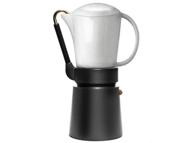 Aerolatte Cafe Porcellana Stove Top Espresso Maker, 4-Cup, Black photo