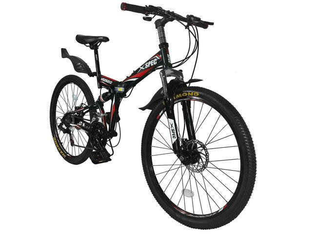 Xspec 26 21 Speed Folding Mountain Bike Bicycle Trail Commuter