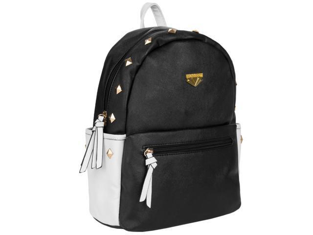 Mini Rivets Vegan Leather Cute girl purse-style backpack (Creamy White) (08907081950137 Luggage & Bags) photo