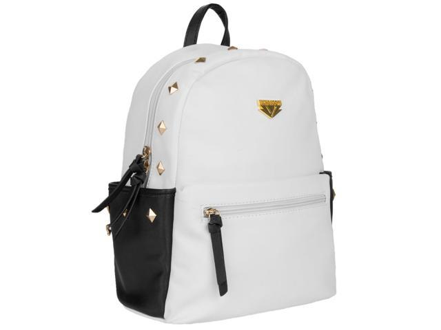 Mini Rivets Vegan Leather Cute girl purse-style backpack (Jet Black) (08907081950144 Luggage & Bags) photo