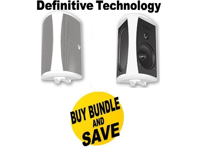 DEFAW6500WBND1 Definitive Technology AW6500 200 W RMS Speakers - 3-way - White + Speakers Bundle (684758171573 Electronics Audio Home Theater Systems) photo