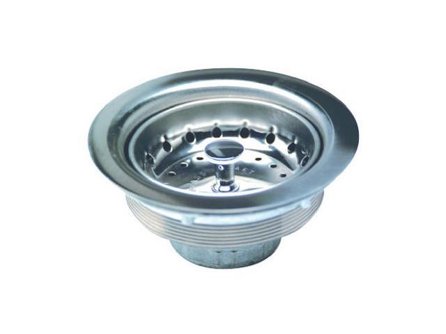 Everflow, 7511, Standard Duo Stainless Steel Chrome Finish, Basket Sink Strainer photo