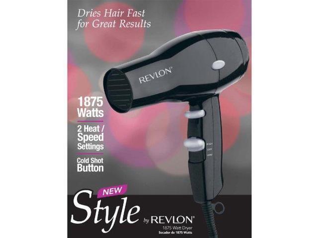 Revlon RVDR5034 Black Turbo Dryer 2 Heat 2 Speed 1875W photo