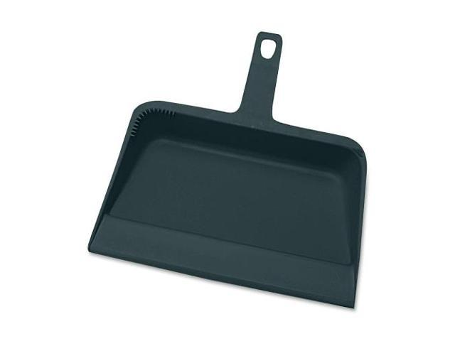 Genuine Joe Angled Broom f//Lobby Dust Pan Kit Plastic Black 02408