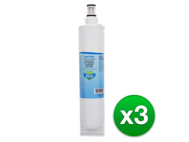 Replacement Refrigerator Water Filter For Whirlpool 4396508, WF285, Kenmore 9085 & RWF1020 (3 Pack) photo