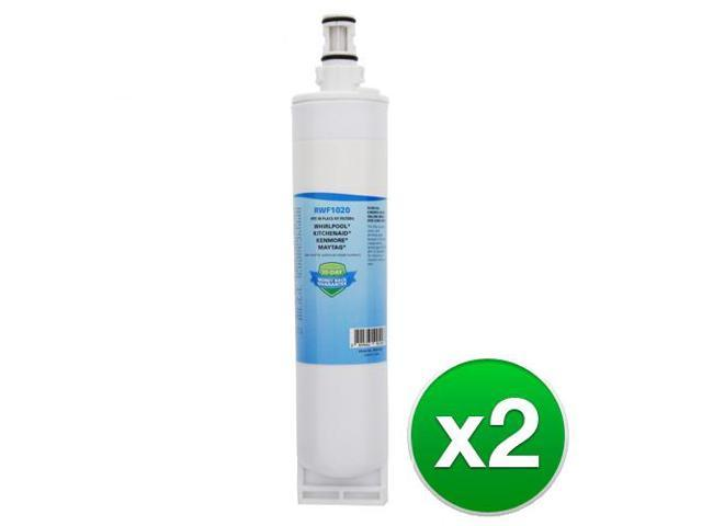 Replacement Refrigerator Water Filter For Whirlpool 4396508, WF285, Kenmore 9085 & RWF1020 (2 Pack) photo