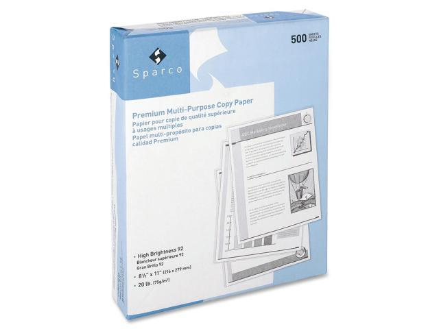 Sparco Copy Paper 92 GE/102 ISO 3HP 20Lb 8-1/2'x11' 10RM/CT WE 06121 photo