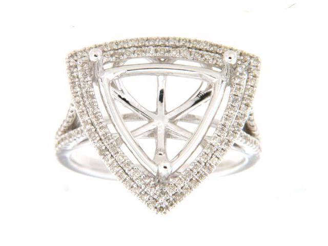 0 74 Ctw Diamond 14K White Gold Ladies Trillian Semi Mount Ring - Newegg com