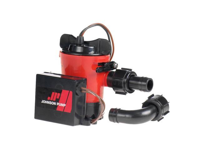 Johnson Pump 500 GPH Auto Bilge Pump 3/4' Hose 12V Dura Port photo